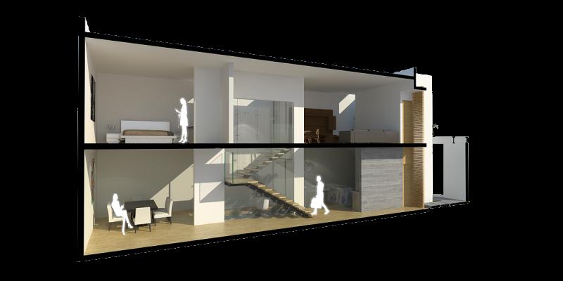 Casa 2patios tadd arquitectos for Construye tu casa en 3d
